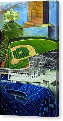 The Friendly Confines Canvas Print by Chris Ripley