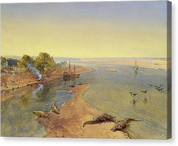 The Ganges Canvas Print by William Crimea Simpson