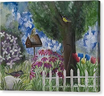 The Garden Canvas Print by Barbara McNeil