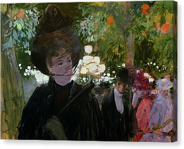The Garden In Paris Canvas Print by Jean Louis Forain
