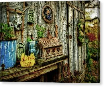 The Garden Shed Canvas Print by Kathy Jennings