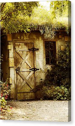 The Garden Shed Canvas Print by MaryJane Armstrong