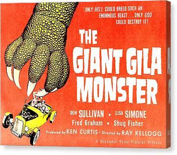 The Giant Gila Monster, Half-sheet Canvas Print by Everett