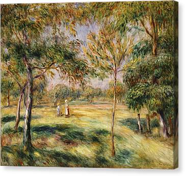 The Glade Canvas Print by Pierre Auguste Renoir