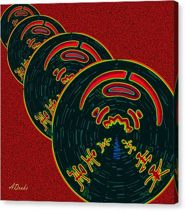 The God Of Fire Family Tree Canvas Print by Alec Drake
