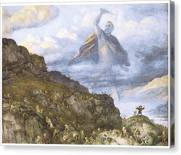 The God Thor And The Dwarves Canvas Print by Richard Doyle