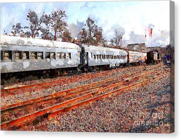 The Golden Age Of Railroads . 7d115623 Canvas Print by Wingsdomain Art and Photography