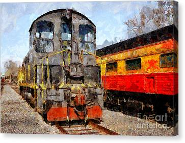 The Golden Age Of Railroads . 7d11588 Canvas Print by Wingsdomain Art and Photography