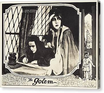 The Golem, Aka Der Golem, Wie Er In Die Canvas Print by Everett