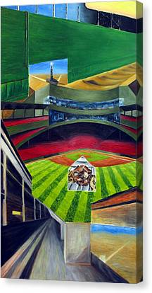 The Green Monster Canvas Print by Chris Ripley