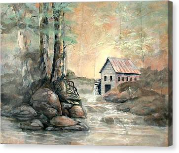 The Grist Mill Canvas Print by Gary Partin