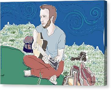 The Guitar Player Canvas Print by Susie Morrison