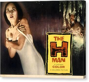 The H-man, Aka Bijo To Ekitainingen Canvas Print by Everett