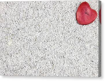 The Heart In The Sand Canvas Print by Joana Kruse