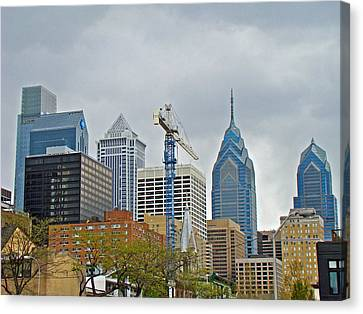 The Heart Of The City - Philadelphia Pennsylvania Canvas Print by Mother Nature
