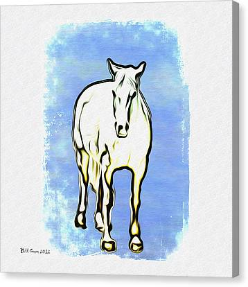 The Horse Canvas Print by Simon Wolter