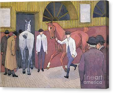 The Horse Mart  Canvas Print by Robert Polhill Bevan