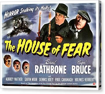 The House Of Fear, Aka Sherlock Holmes Canvas Print by Everett