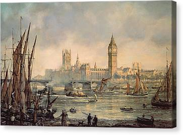 The Houses Of Parliament And Westminster Bridge Canvas Print by Richard Willis