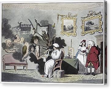 The Hypochondriac, Satirical Artwork Canvas Print by