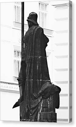 The Iron Knight - Darth Vader Watches Over Prague Cz Canvas Print by Christine Till