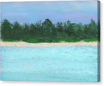 The Island Canvas Print by Janet Palaggi