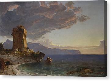 The Isle Of Capri Canvas Print by Jasper Francis Cropsey