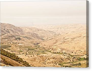 The Jordan Valley, Jordan Canvas Print by Jim Foley