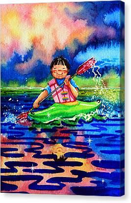 The Kayak Racer 11 Canvas Print by Hanne Lore Koehler