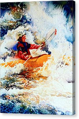 The Kayak Racer 19 Canvas Print by Hanne Lore Koehler