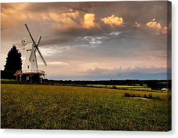 The Kentish Smock Mill Canvas Print by Jeremy Sage