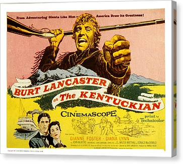 The Kentuckian, Burt Lancaster, 1955 Canvas Print by Everett
