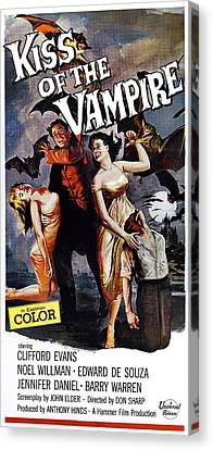 The Kiss Of The Vampire, Aka Kiss Of Canvas Print by Everett