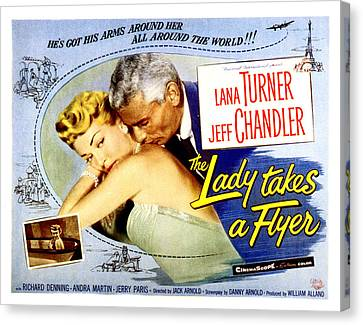 The Lady Takes A Flyer, Lana Turner Canvas Print by Everett