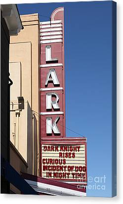 The Lark Theater In Larkspur California - 5d18490 Canvas Print by Wingsdomain Art and Photography