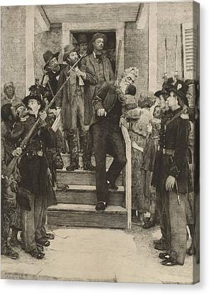 The Last Moments Of John Brown, Etching Canvas Print by Everett