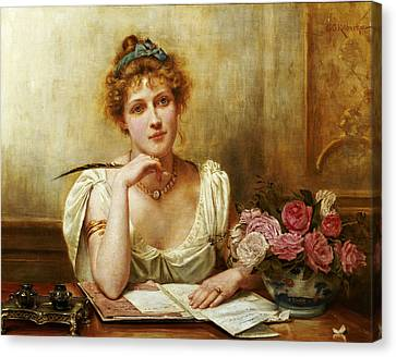 The Letter Canvas Print by George Goodwin Kilbourne