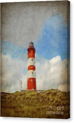 The Lighthouse Amrum Canvas Print by Angela Doelling AD DESIGN Photo and PhotoArt