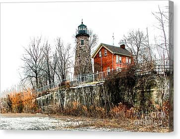 The Lighthouse Canvas Print by Ken Marsh