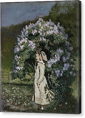The Lilac Bush Canvas Print by Olaf Isaachsen