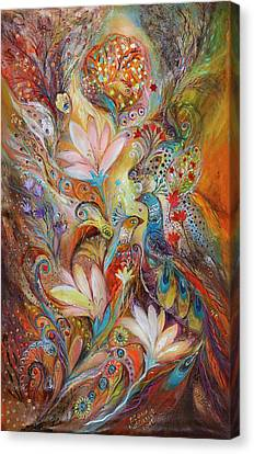 The Lilies And Bell Flowers Canvas Print by Elena Kotliarker
