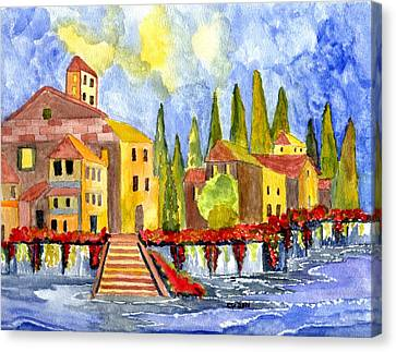 The Little Village Canvas Print by Connie Valasco
