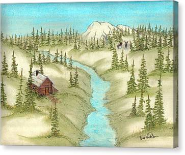 The Lodge Canvas Print by Nick Ambler