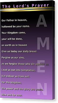 The Lord's Prayer Canvas Print by Ricky Jarnagin