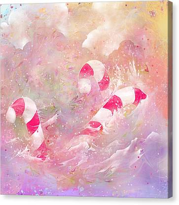 The Lost Candy Canes Canvas Print by Rachel Christine Nowicki