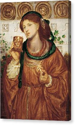 The Loving Cup Canvas Print by Dante Charles Gabriel Rossetti