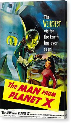The Man From Planet X, Pat Goldin Canvas Print by Everett