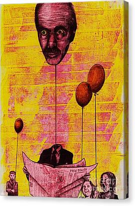 The Man With The Inflatable Head Canvas Print by Spencer Bower