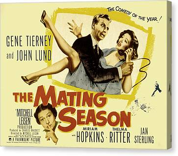 The Mating Season, John Lund, Gene Canvas Print by Everett