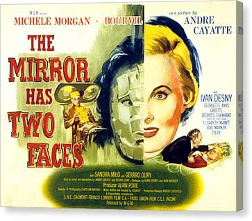 The Mirror Has Two Faces, Aka Le Miroir Canvas Print by Everett